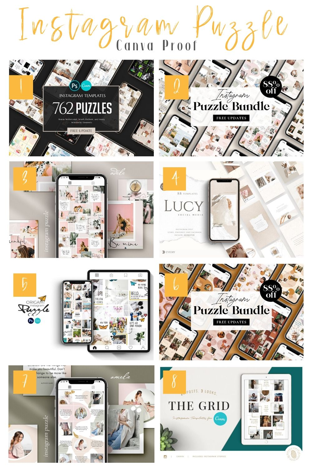 Instagram Puzzle Feed Canva