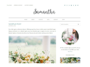 wordpress themes samantha