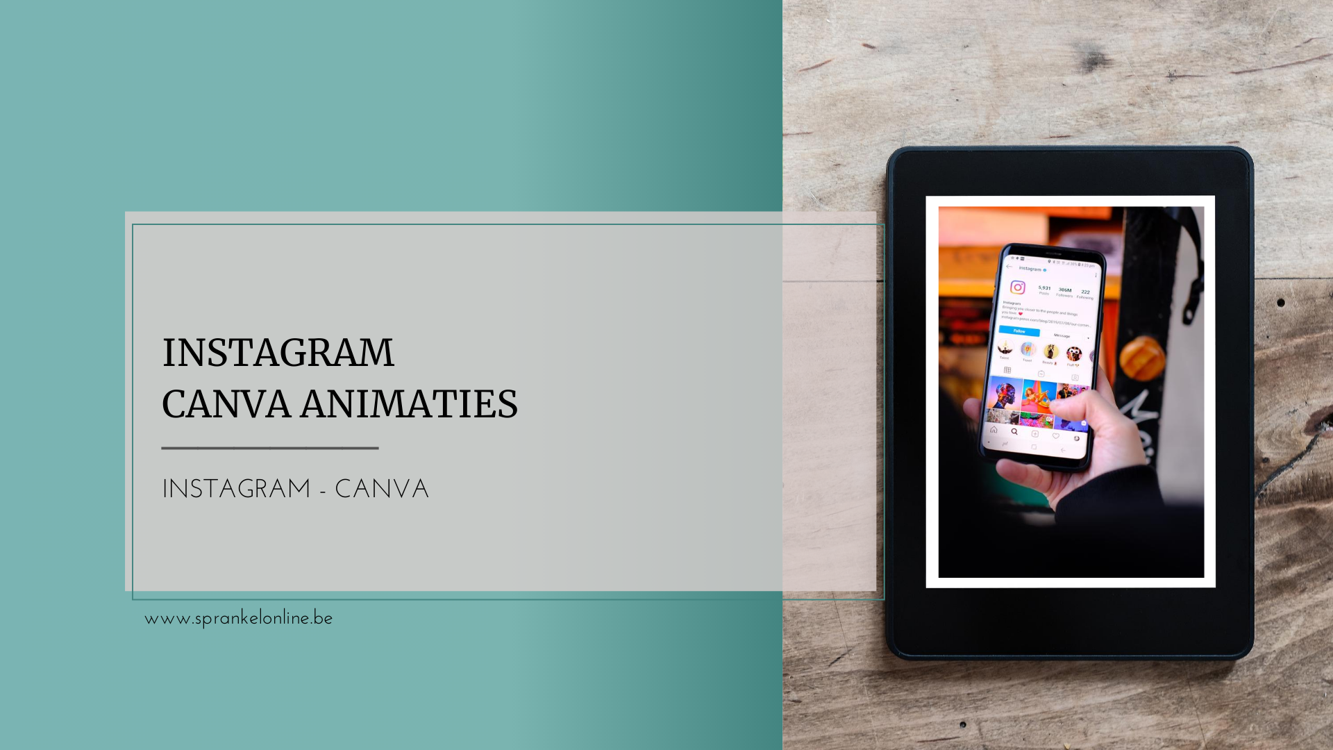 Instagram Canva Animaties